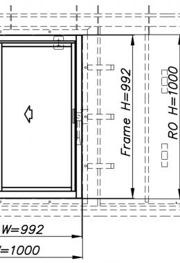 חלון פלדה דירתי חד-כנפי, דו-תכליתי, עם חלון אלומיניום AW60 כנף על כנף