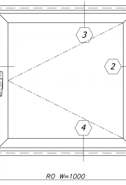 חלון פלדה דירתי חד-כנפי, עם חלון אלומיניום 9.77 ציר, אטום לגזים