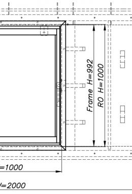 חלון פלדה מוסדי חד-כנפי, דו-תכליתי, עם הכנה לכיס + כיס פלדה, עם חלון אלומיניום 7000 נגרר לכיס